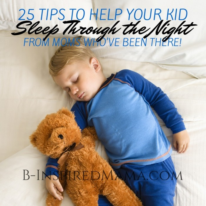 25 Tips to Help Your Kid Sleep Through the Night